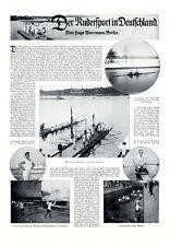 Der Rudersport in Deutschland XL Bericht 1920 4 große Seiten 26 Abb. rudern
