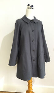 """TIN HOUSE OLD TOWN Coat Jacket Utility Workwear Grey Cotton Drill Sz 8 Ch38"""""""