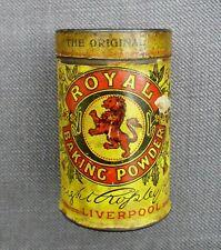 """ANTIQUE c.1905 """"ROYAL BAKING POWDER"""" ADVERTISING TIN"""
