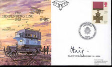 AC79c Army WWI Hindenberg Line RAF cover signed Earl HAIG Colditz Castle POW