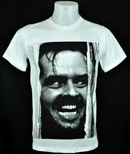 Jack Nicholson The Shining face White T-shirt 100% cotton Tee Punk Rock Size L