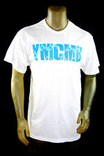 NEW YMCMB YOUNG MONEY casual short Sleeve Tshirt white/blue crew neck *LARGE
