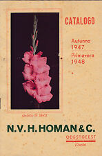 CATALOGO DI FIORI 1947 N.V.H. HOMAN & C. OEGSTGEEST Netherlands Holland 9-169
