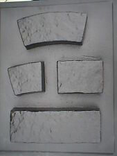 4 THICK CONCRETE GARDEN EDGING LAWN LANDSCAPE MOLDS MAKE LOW WALLS, PAVERS TOO