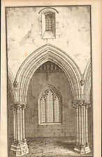 1803 GEORGIAN ARCHITECTURE PRINT ~ VIEW OF NAVE BERKELEY CHURCH GLOUCESTERSHIRE