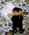 "Build a Bear Star Trek SPOCK Live Long and Prosper NEW 17"" Certificate UnStuffed"