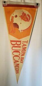 Vintage 70's NFL Tampa Bay Buccaneers Pennant 29x12 (37