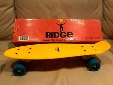 Ridge Penny Board Skateboard Mini Cruise 55 cm nie gefahren Gelb / Blau mit OVP