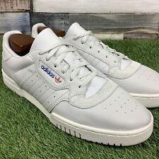 UK12 Mens ADIDAS POWERPHASE Trainers - Light Grey Leather  - Retro Style - EU47