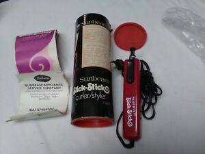VT 1978 Sunbeam electric Women Curler Style Compact Retractable Slick Stick