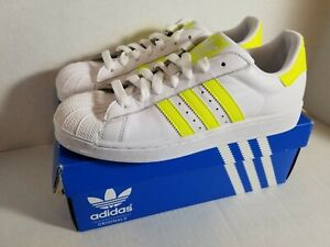 Adidas SUPERSTAR 2 G51563 Yellow Stripes US Sz. 9.5 w/ Box Excellent Condition