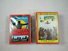 1980 TOPPS SUPERMAN II COMPLETE SET 1-88 CARDS + 1991 Robin Hood 55 Card Set
