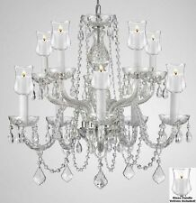 "Crystal Chandelier Lighting W/Candle Votives H25"" X W24""For Indoor/Outdoor Use!"