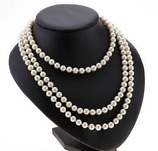 New Freshwater Pearl Drop Pearl Necklace Beaded 120cm Long Chain Rope Bead