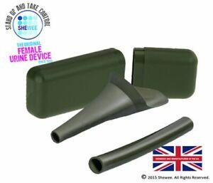 Shewee Flexi + Case - The ORIGINAL Female Urination Device - Nato Green