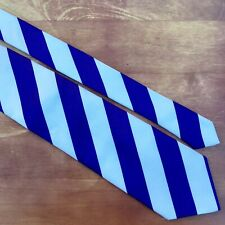 """PARQUET 61"""" X 3 1/2"""" Silk Tie. Purple Violet White Diagonal Striped KSU K-State)"""