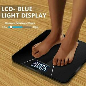 Electronic Bathroom Scales Toughened Glass Body Measure Weight 180kg