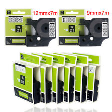 More details for d1 tape cartridge 9mmx7m 12mm x7m for dymo label printer 40910 40913 45010 45013