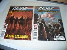 GI Joe America's Elite #0 & 1 LOT OF 2 BOOKS 2005 Bagged and Boarded