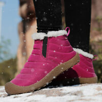 Womens Warm Snow Boots Fur Lined Winter Outdoor Slip On Shoes Ankle Boots