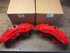 Set New GM 2015-19 Corvette Z06 Front Red Brembo Calipers 23242497 23242498
