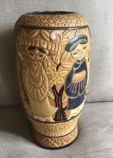ANCIEN VASE CERAMIQUE A DECOR DE CHINOIS ART DECO