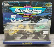 Micro Machines Space Babylon 5 #2 Vorlon Cruiser, Narn Transport, Raider Ship