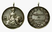 pcc2135_36) Medaglia 1907 Al Merito di Servizio PS inc. Luigi Giorgi Argento