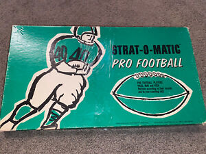 Vintage NFL 1968 Strat-O-Matic Pro Football Board Game 4 Teams Included UNITAS