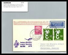 GP GOLDPATH: GERMANY POST CARD 1959 FIRST FLIGHT COVER _CV427_P07