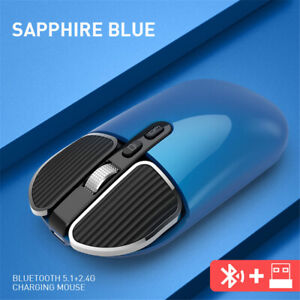 BT5.1+2.4G Wireless Dual Mode Rechargeable Mouse USB Gaming Charing Mouse