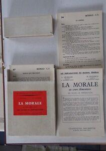 LA MORALE boite de 158 fiches éducation civique CE Hachette 1962 en BE