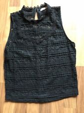 Pull & Bear Ladies Black Lace Top Size L