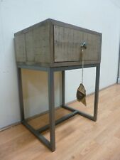 New Contemporary Reclaimed Wood & Metal 1 Drawer Side Table *Furniture Store*
