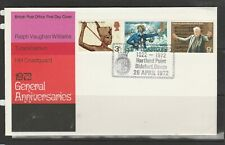 GB FDC 1972 Anniv, Full set, HARTLAND POINT special cancel, Unaddressed,