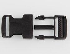 10 Stück Kunststoff Schwarz Steckschnalle Gurtschnalle Steckverschluss 20mm