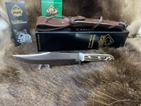 2019 Puma 11 6396 Bowie Knife With Stag Handles Leather Sheath Factory Mint Box