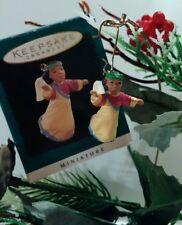 "Hallmark Miniature ""Heavenly Praises"" Angel Ornament Ethnic"