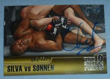 Chael Sonnen Signed UFC 2011 Topps Title Shot Top 10 Fights Card 4 117 Autograph