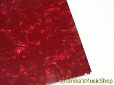 CHITARRA scratch plate pickguard materiale Red Pearl 24X38 per Precision Bass ETC
