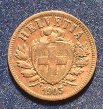 Schweiz 2 Rappen 1903 B KM#4.2 nur 500.000 St.
