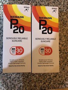 2 X Riemann P20 Once a Day Sun Protection Spray SPF 30 High 200ml