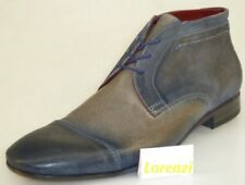 Lorenzi Shoes Mens Made in Italy Handmade Lace Up Leather Boots EUR 41/42