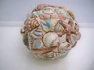 BEAUTIFUL PORCELAIN SEASHELL DESIGN BALL HOME DECOR