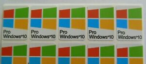 5 x Windows 10 PRO Sticker Badge Logo Decal for laptop PC HD Quality multicolor