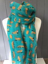 SCOOBY PAW PRINTS LIGHT MINT GREEN SCARF GIFT FRIEND SISTER DOG DOGS WRAP PUPPY