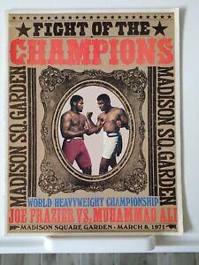 1971 Muhammad Ali vs Joe Frazier, Fight of the Champions. Original Program