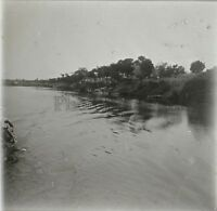 Africa Gambia Foto Q25 Placca Lente Stereo Positive Vintage Ca 1920