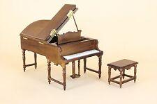 Dollhouse Miniature GRAND PIANO W/STOOL 1472-NWN set2   DIRECT FROM BESPAQ