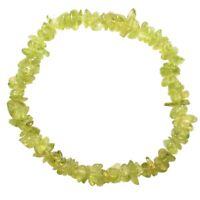 CHARGED Premium Peridot Crystal Chip Stretchy Bracelet Healing Energy REIKI
